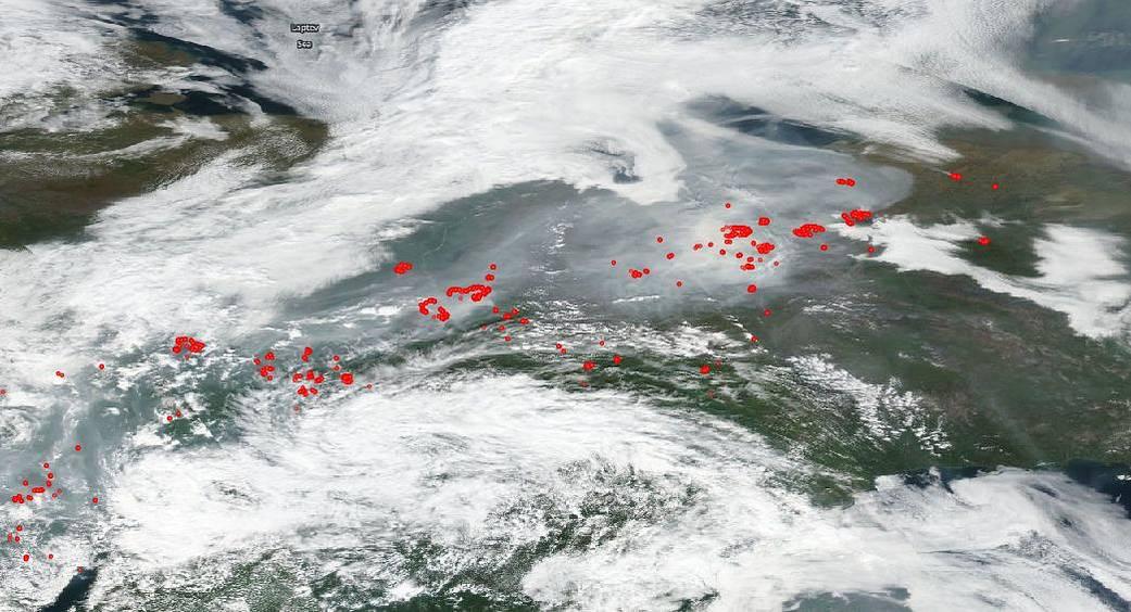 russia incendi